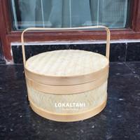 Hampers Bambu/Keranjang Anyaman/Anyaman rantang Bulat 20 CM