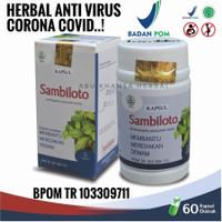 SAMBILOTO Kapsul Daun Herbal Anti Virus Bakteri Radang Paru Covid BPOM - Tazakka 60 Kaps