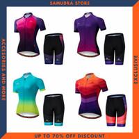 Baju Kaos Jersey Sepeda Roadbike Gowes Wanita Cewek Setelan Import