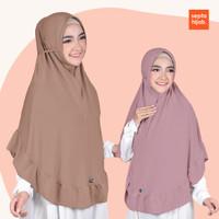 Hijab Bergo Tali Maryam Syari Rempel Pad Antem Bahan Jersey Adem