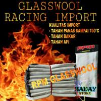 glasswool racing anti bakar predam knalpot
