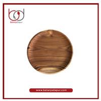 Dcraft Wood Plate Piring Kayu Jati 25 cm / Piring Kayu Premium