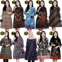 Atasan Baju Wanita Modern | Dress Tunik Batik Spesial Baju Kerja M-XXL