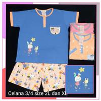 Anne Claire Baju Tidur Jumbo Bigsize 2L dan XL motif Rabbit