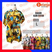 Baju Kemeja Hawaii L