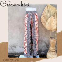 Celana kulot batik panjang motif 3D tangkup