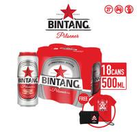 Bir Bintang Pilsener 500ml Can 18 Pcs + T-Shirt & Pouch