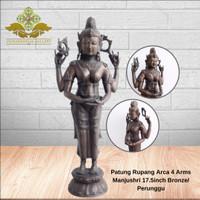 Patung Rupang Arca 4 Arms Manjushri 17.5inch Bronze/ Perunggu