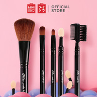 Miniso Official Skin charm makeup brush 5piece setincl (07MN-9610) - Hitam