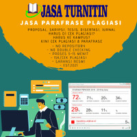 Jasa Parafrase Plagiasi Turnitin Student Unlimited No Repository 100%