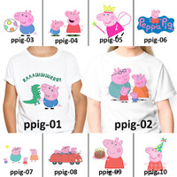 [ FREE NAMA ] Baju Kaos custom PEPPA PIG PEPPAPIG ANAK DEWASA