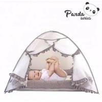 Omiland Kasur bayi serut kotak + kelambu bojong Panda series-OYK 1142