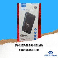 POWERBANK VIVAN WIRELESS 10000MAH