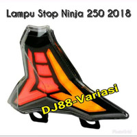 Lampu rem belakang new ninja 250 fi 2018 stoplamp 3in1 led model JPA