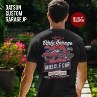 Kaos T Shirt Baju Datsun Mooneyes Car Custom Garage Vintage Retro