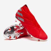 SEPATU BOLA MURAH IMPORT TERBARU Adidas Nemeziz 19+ Active Red Silver