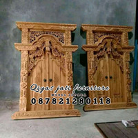 set pintu jendela rumah bahan kayu jati TIPE GEBYOK HARGA TERMURAH