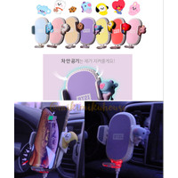 BT21 Baby Air Cleaning Wireless Charging Cradle Car Mobil Docking HP