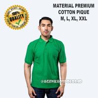 Kaos Polo Shirt Polos Berkerah Premium Distro - HIJAU FUJI