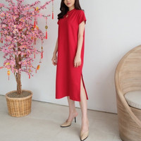Cheongsam Classic Dress Qipao Shanghai CNY Baju Imlek Wanita KDO