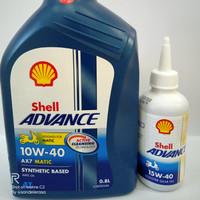 Oli Shell AX7 Matic 0.8L 10W-40 + Oli Gardan Shell 15W-40