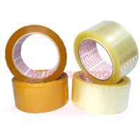 Lakban Daimaru 2 Inch Bening Coklat 48 mm x 90 Yard OPP Isolasi Tape