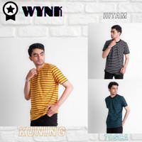 Baju Salur / Baju Belang / Baju Garis (Motif Tipis) - Termurah - Putih, M