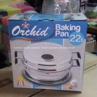 BACKING PAN ORCHID 22 CM PANCI PEMANGGANG KUE CAKE