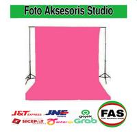 Background foto polos warna pink 2,5 x 3 meter