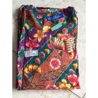 Setelan celana kulot batik wanita premium, adem dan tebal Maxi-85 - Ungu