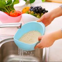 Wadah Besar dengan Saringan untuk Cuci Beras Sayur Buah