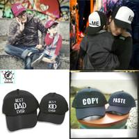 PACKAGE 2 Pcs Topi Trucker COUPLE / Ayah dan Anak / MEminiME Design