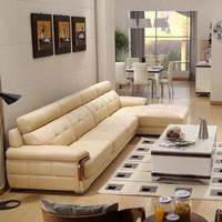 sofa minimalis / sofa ruang keluarga /sofa minimalis l /sofa l - Putih