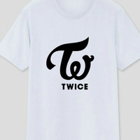 Kaos oblong t-shirt TWICE-KPOP big logo keren size M L XL MURAH