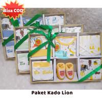 Baby Set LION Kuning - Paket Kado Bayi - New Born - Baju Set Box - Girls