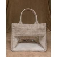 Tas Goodie Bag Gift Bag Souvenir Hampers - Kanvas Kombinasi Mika