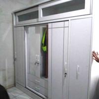 lemari pakaian 4 pintu minimalis sliding custom