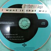 CD BACKSTREET BOYS - I WANT IT THAT WAY