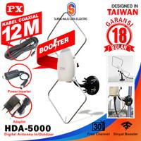 Antena tv digital indoor outdoor px hda 5000 terbaru dn termurah kabel
