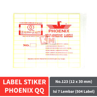 Label Stiker Phoenix QQ No.123 Kertas Harga Nama Undangan 12 x 30 mm