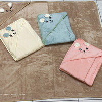 selimut bayi topi bulu lembut cotton polos/SNI/ukuran 90X90cm/