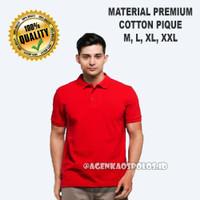 Kaos Polo Shirt Polos Berkerah Premium Distro - MERAH TERANG