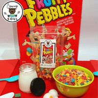 Fruity Pebbles Cereal, Sereal Share In Pouch