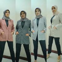 Blazer Wanita   Atasan Muslimah   pink abu hitam putih