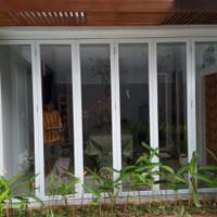 pintu lipat alumunium - 6 daun