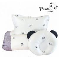 Bantal Guling bayi set Omiland + bantal peyang Panda series - OWB 1142