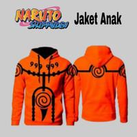 Jaket Anak Anime Naruto Sweater Anak Rikudo Kyubi Hoodie