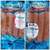 [PROMO...!!!] Nikmat Sosis Halal Beef French Garlic/Aussie BBQ - Aussie BBQ