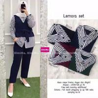 Lemora set setelan baju muslim wanita kerja original murah jumbo