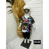 Setelan Anak Laki-Laki Kaos & Celana Jogger Free Masker (CO 09-12) - S